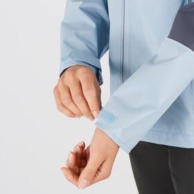 Salomon Outrack Waterproof Jacket Women, ashley blue/ebony